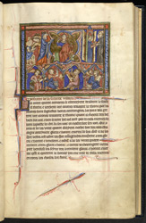 Miniature Representing Good Works By Which Men Give Glory To God, In 'The Abingdon Apocalypse'